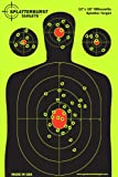 25 Pacchetto - 30.5 cm x 45.72 cm Silhouette SPLATTERBURST Obiettivi di ripresa - Vedere immediatamente i tuoi scatti Burst luminoso fluorescente gialla al momento dell'impatto - Grande per tutte le armi da fuoco, fucili, pistole, AirSoft, BB e pellet pistole!