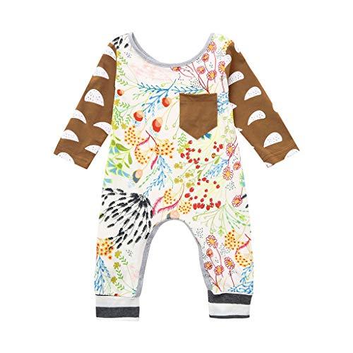 Knowin-baby body Neugeborene Baby Boy Girl Floral Strampler Overall Outfits Kleidung Baby Langarm Floral Einteiler Strampler Bodysuite Hochwertig Lässig und Hübsch Unisex
