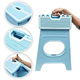 #6: Livzing Foldable Step Stool for Adults Kids – Portable Bathroom Kitchen Garden Picnic Stepping Chair Holds 70KG Color May Vary (37 * 30 * 46)