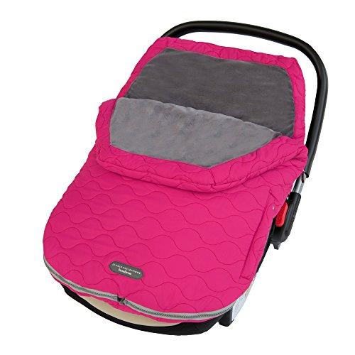 JJ Cole JUYBM/UYBM - Bundleme Urban Fußsack für den Kinderwagen/Autositz, wind- und wetterfest - pink, sassy - bis 1 Jahr