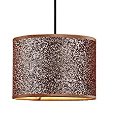 Innoteck Abat-jour cylindrique à paillettes multifonction pour lustre et lampe de bureau, feuille de polyéthylène avec revêtement en poudre, cuivre rose