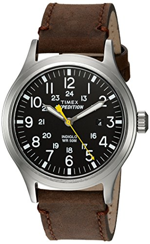 Timex Herren Analog Quarz Uhr mit Leder Armband TWC004500 (Leder Timex)