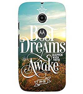 PRINTSHOPPII QUOTES Back Case Cover for Motorola Moto E2::Motorola Moto E (2nd Gen)