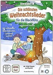 Blockflöte-TV: Die schönsten Weihnachtslieder für die Blockflöte - incl. DVD mit Lehrvideos und Playbacks zum Mitspielen: mit Grifftabellen, Gitarrenakkorden und Liedtexten