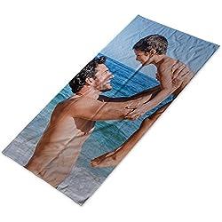 Lolapix Toalla Playa Personalizada con Foto/Imagen/Texto/Nombre | Algodón | Playa Piscina Camping | Varios Tamaños | 70x140