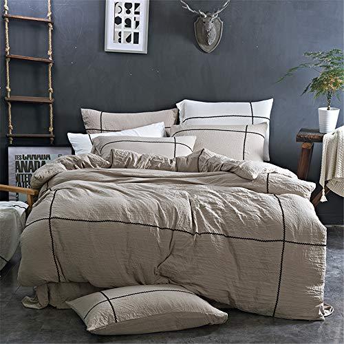 KANGJIABAOBAO Bettwäsche Vier Sätze von Bett Bettwäsche Set von Vier Baumwolle Hochwertige, gebürstete Bettwäsche mit hoher Dichte Kissenbezug Geeignet (Größe : 1.8m)