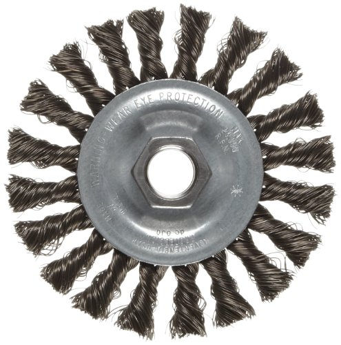 Preisvergleich Produktbild Weiler Vortec Pro Wide Face Wire Wheel Brush, Threaded Hole, Carbon Steel, Partial Twist Knotted, 4 Diameter, 0.014 Wire Diameter, 5/8-11 Arbor, 20000 rpm by Weiler