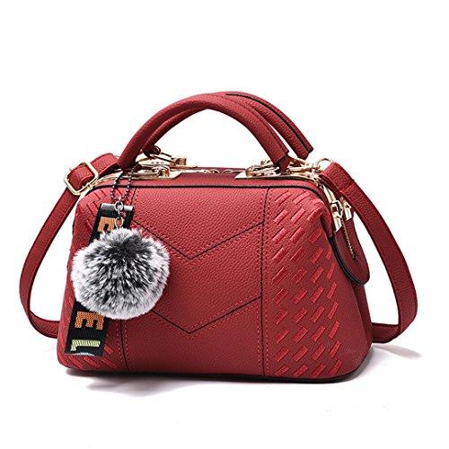 Damen Taschen Großhandel Handtaschen Nachricht Bag Shoulder Diagonal Style Bag Red 24.5x15x13cm