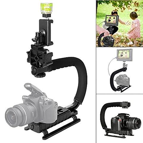 Fantaseal® DSLR Caméra Stabilisateur DC DV 3 en 1 Caméra
