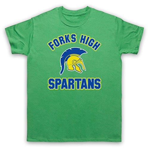 Inspiriert durch Twilight Forks High Spartans Unofficial Herren T-Shirt Grun