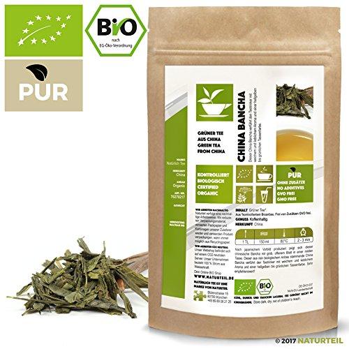 100 g Bancha grüner Tee Bio – im aromadichten & wiederverschließbaren Beutel – Natürlich Tee by Naturteil