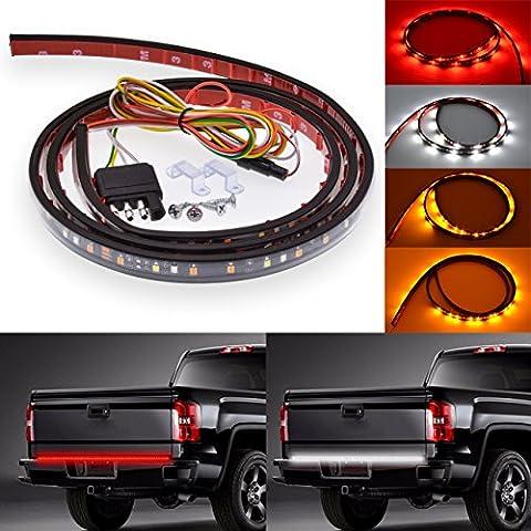 Katur 119,4cm LED Tailgate Barre lumineuse Rouge/blanc résistant aux intempéries Aluminium Rigide Camion Envers Course Frein Tour Signal pour SUV Jeep RV Dodge Ram Toyota Chevy GMC