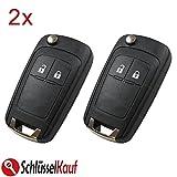 KONIKON 2X Autoschlüssel Klappschlüssel Schlüssel Schlüsselgehäuse Auto 2 Tasten Gehäuse Ersatz Ersatzgehäuse Key Shell Key case Blade passend für Opel Astra J Corsa E Meriva B Insignia