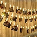 Gaddrt Kreativ 20 USB Lade LED Fenster Vorhang Lichter String Foto Clip Lampe Mauer Wohnzimmer Arbeitszimmer Dekor Geschenk (Gelb)