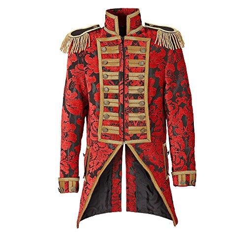 n Frack Jaquard Parade kostüm, M, red (M Und M Kostüm Party Stadt)