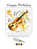 Carte d\'anniversaire Motif violon (7x5) unique
