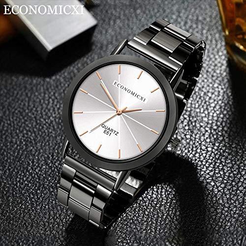 REALIKE Herren Uhr Chronograph Analogue Quartz Wasserdicht Business Gold Silber Schwarz Zifferblatt Armbanduhr mit Edelstahl Mesh Cool Sportuhr Outdoor Laufen mit für Männer