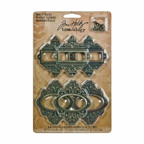 Unbekannt Idea-Ology Metal Ornate Plates W/Fasteners 2.25