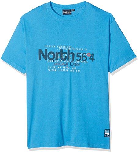 North 56-4 Herren T-Shirt Blau (Mid Blue 0540)