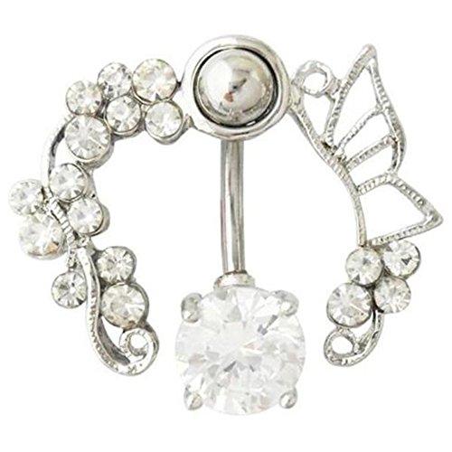 richbest Body Piercing Bauch Ring Navel Bar Fashion Jewelry 14G Edelstahl Bauchnabel Ringe (Anzahl Bauch-ringe)