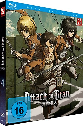 Attack on Titan - Vol.4 [Limited Edition] (inklusive Aufnäher) [Blu-ray]