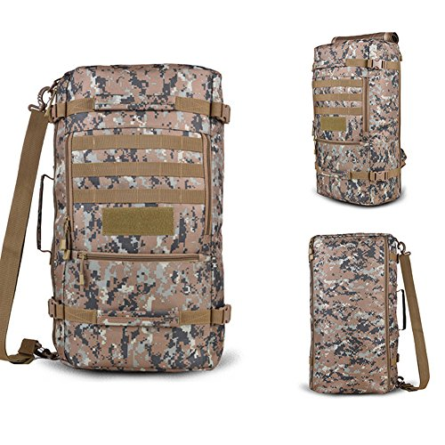 yinggg Leinwand Rucksack Herren Casual Daypacks Travel Tasche für Wandern/Camping/Outdoor Dschungel-Camouflage