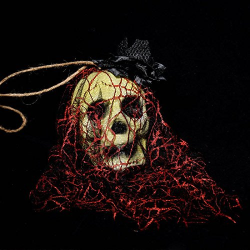 Zantec Halloween Bar Haunted House Dekoration Requisiten Schaum Simulation Bloody Teufel Kopf Friedhof Horror Kleid Garn Hanging Drop (Tote Körper Requisiten)