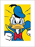 1art1 74054 Donald Duck - Wütend Poster Kunstdruck 80 x 60 cm