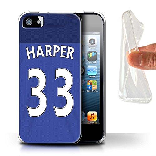 Offiziell Sunderland AFC Hülle / Gel TPU Case für Apple iPhone 5/5S / Pack 24pcs Muster / SAFC Trikot Home 15/16 Kollektion Harper