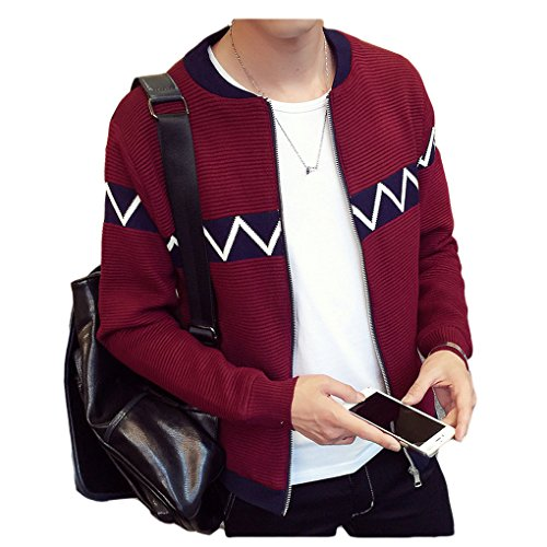 Zhhlaixing Fashion Spring Fit Pour des hommes Thin Casual Jacket Slim Men Short Coat red