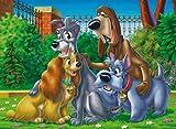 Clementoni 28022.3  - Amigos Animales Puzzle: La Dama y el Vagabundo de las piezas 150
