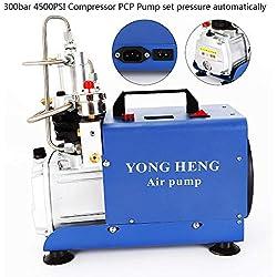 YIYIBY Pompe à air haute pression électrique 300BAR 30MPA 4500PSI compresseur PCP pour bouteille de plongée automobile, bouteille industrielle, fusil à air