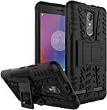 Chevron Military Grade Armor Kick Stand Back Cover Case for Lenovo K6 Power ,Black (Chev Shield)