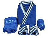 Koyoka Blue Women Bathrobe (4 Pcs)