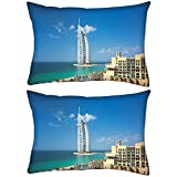 Pack of 2 Amazing Structure Rectangle Toss Throw Pillow Cushion Cover Decoarative Pillow Cover 14 x 7""