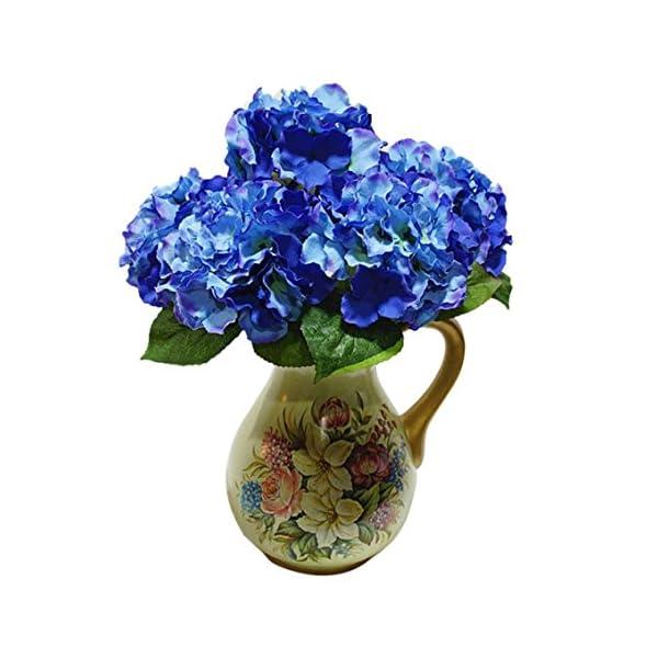 Ramo de flores artificiales – TOOGOO(R) ramo de 5 cabezas de flor de hortensia artificial para decoracion de boda jardin…