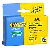 Tacwise 1220 Grapas de acero inoxidable de tipo 140/12 mm