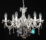 6 Arm Kronleuchter gefertigt mit SPECTRA® Crystal von SWAROVSKI silberfarben statt UVP399€
