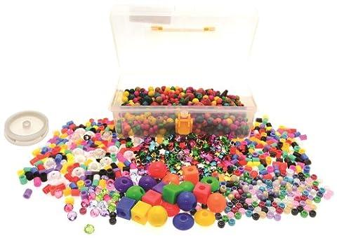 CI Chunky Jewellery Making Kit Bright Colours, Multi-Colour