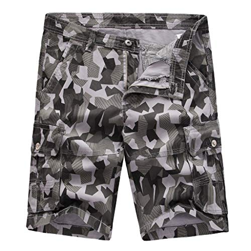 Poachers Men's Pants,Loose Fit Cargohose Mit Mehreren Taschen FüR Herren Und Camouflage LäSsige GroßE Kurze Hose