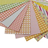#7: Magideal 20 Pieces Mixed Pattern Colored Scrapbooking Sticker Decorative Labelling