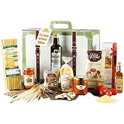 Cesta Navideña Gourmet - Cesta de Regalo Pasta, condimentos y Productos típicos de Navidad - Viaggio Gastronomico
