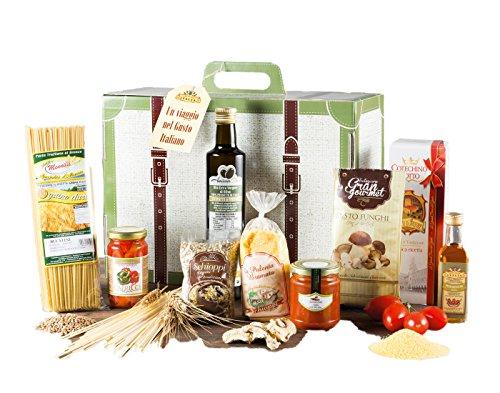 Viaggio gastronomico - cesto natalizio con specialità italiane e prodotti tipici artigianali