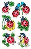 AVERY Zweckform 53281 Deko Sticker Marienkäfer 12 Aufkleber