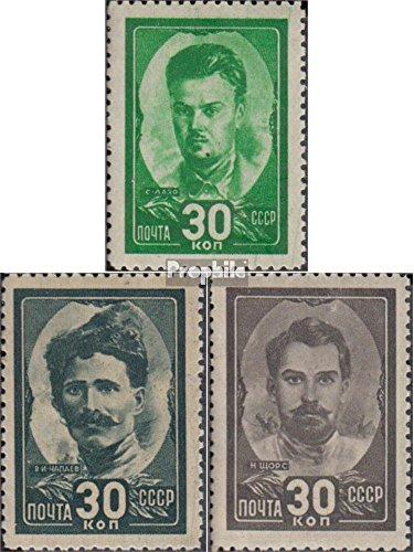 Sowjetunion 925-927 (kompl.Ausg.) 1944 Helden des Bürgerkrieges (Briefmarken für Sammler)