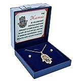 Sincerely For You - Juego de joyas de oro con diseño de ojo de Fátima en el Oriente Medio, mano de Fátima, abalorio de la suerte, set de regalo de buena suerte