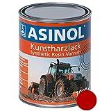 ASINOL kVERNELAND rouge 1000 ml couleur vernie kunstharzlack boîte de 1 l