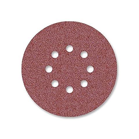 25 Disques abrasifs auto-agrippants MioTools pour ponceuse excentrique - Ø 150 mm - grain 36 - 8 trous