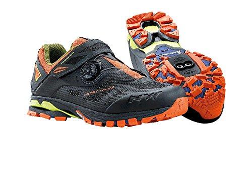 NORTHWAVE SPIDER PLUS 2 Chaussures de vélo de montagne, Antra-noir-orange, Taille:gr. 48