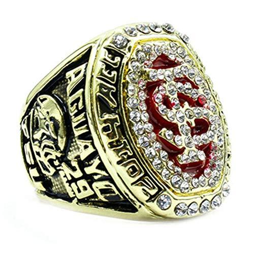 Uezenu Herren 2014 Seminole Florida Fußball Diamant Rot Gold Meisterschaft Ringe